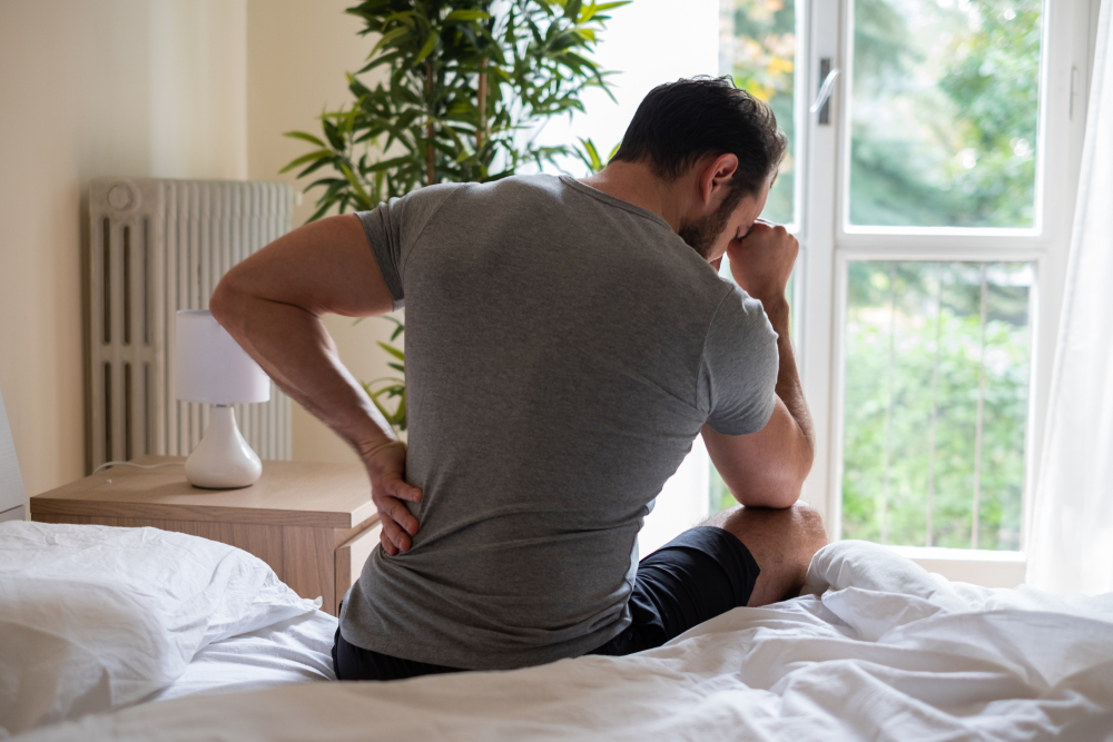 Man with sciatic nerve pain
